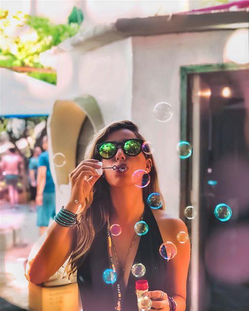 Magic is something we make ... bubbly bubbly 😌🎈 credits to @rajazakhour (MAGIC LAND)