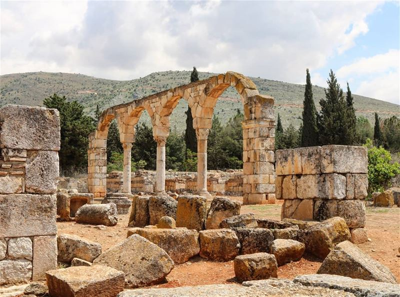 .. Ruins are just a signal of new beginnings. ancient ancientruins ... (`Anjar, Béqaa, Lebanon)
