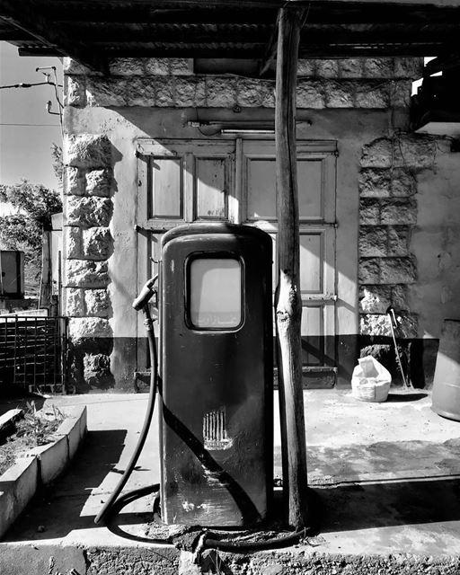 ehden lebanon🇱🇧 oldstation gazoil blackandwhitephotography ... (Ehden, Lebanon)