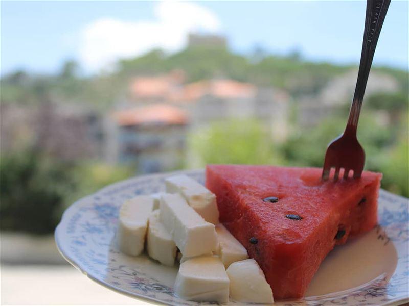 Pic of the Season 🍉... Hseiki Lebanon beirut fruit watermelon ... (Baïssoûr, Mont-Liban, Lebanon)