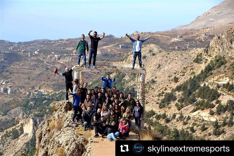 Repost @skylineextremesports with @get_repost・・・One Big Family ❤️ ... (The Cedars of Lebanon)