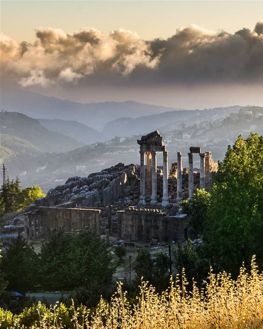 The Roman Temple | Faqra-Kfardebian architecture clouds history old ... (Mzaar Kfardebian)