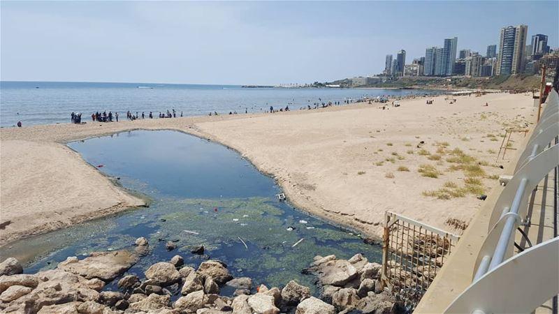 أين هي بلدية بيروت من ما يجري من مجزرة بحق الشاطئ العام ؟! lebanon ...