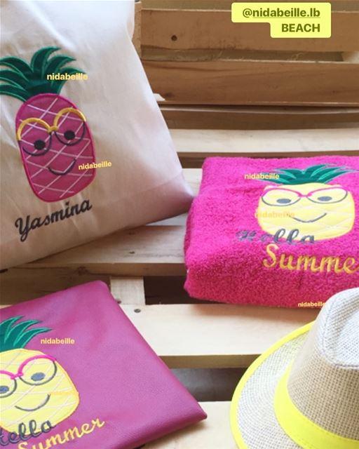 Hello Summer 🍍🍍beach set☀️ Write it on fabric by nid d'abeille summer ...