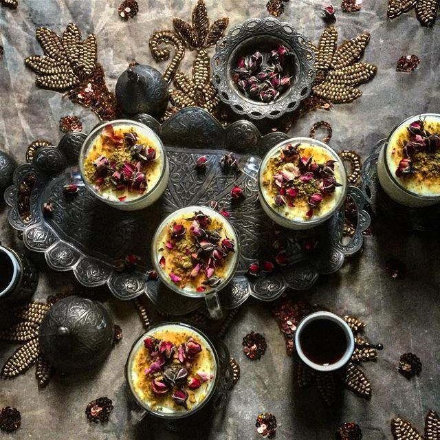 Why not Knefeh in a cup, drizzled with that extra aromatic rose water,...