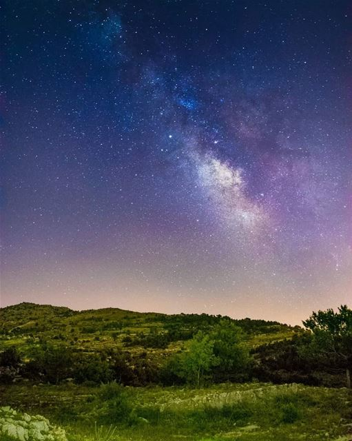 Good evening from south lebanon milkywayphotography milkyway ... (Niha, Al Janub, Lebanon)