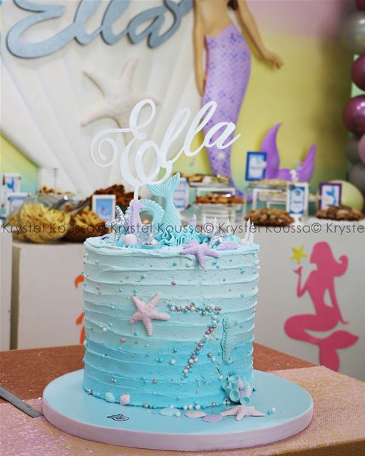 Mermaid Ella's beautiful  birthdaycake 🎂🎉🧜🏻‍♀️ ... (Jeita Country Club)