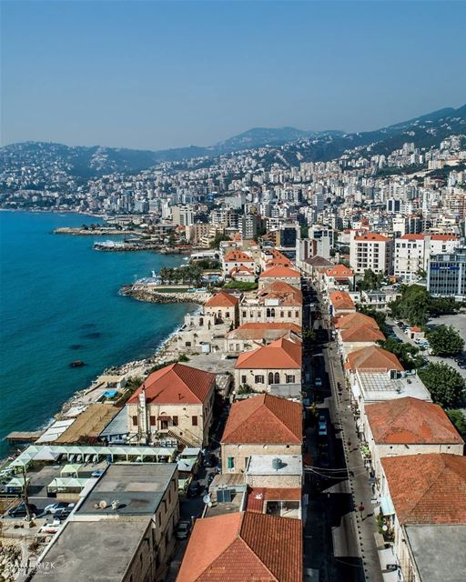 Throwback by the sea 🌊🏠... jounieh lebanon dji drones quadcopter... (Joünié)