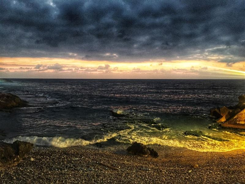 lebanon beirut sunset sea beach clouds nature sky beautiful ... (Beirut, Lebanon)