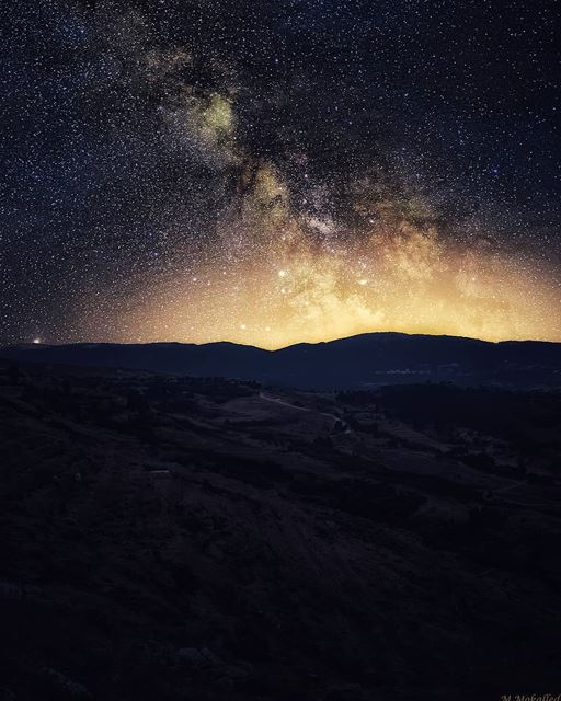 Look up at the stars and not down at your feet. Try to make sense of what... (Jarmaq, Al Janub, Lebanon)