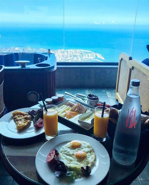 Morning goals 😍 📸 @baylodge_lebanon lebanon breakfast... (Bay Lodge)