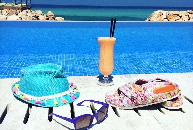 lebanon lebanonshots likeforlike lebanonbeauty view beach pool ... (Iris Beach Club)