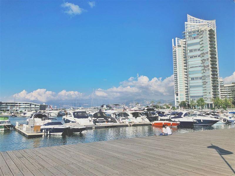 *tuesday ••••• zaitunaybay spotthelove blue marina salutbeyrouth ... (Zaitunay Bay)