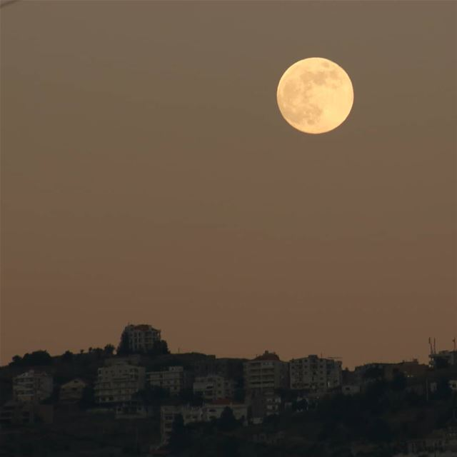 Here comes the moon 😍 fullmoon moon fullmoonnight fullmoonvibes ... (Aley)