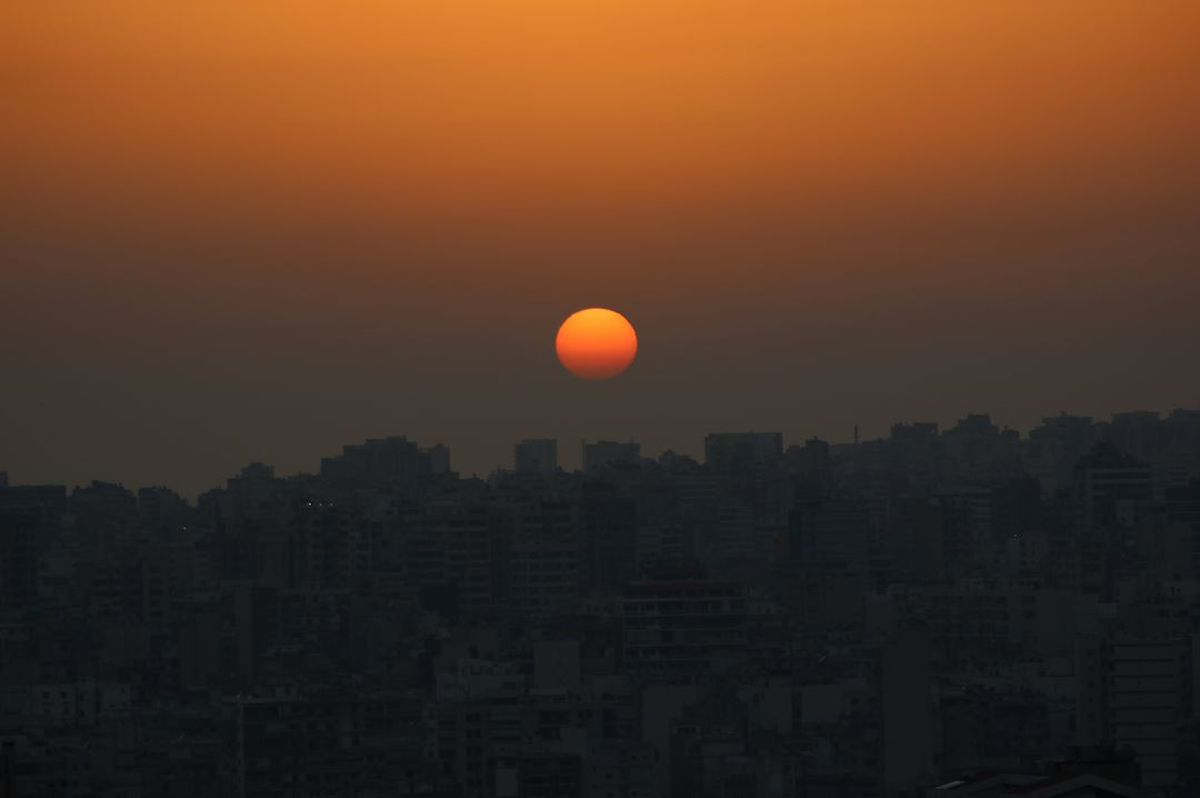 The sunset over Beirut sunset sun soleil coucherdesoleil sky ciel ... (Hazmieh)