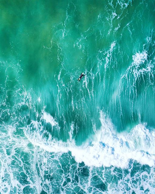 Nature's painting 🏄.. sea surf lebanon beach fromwhereidrone ...
