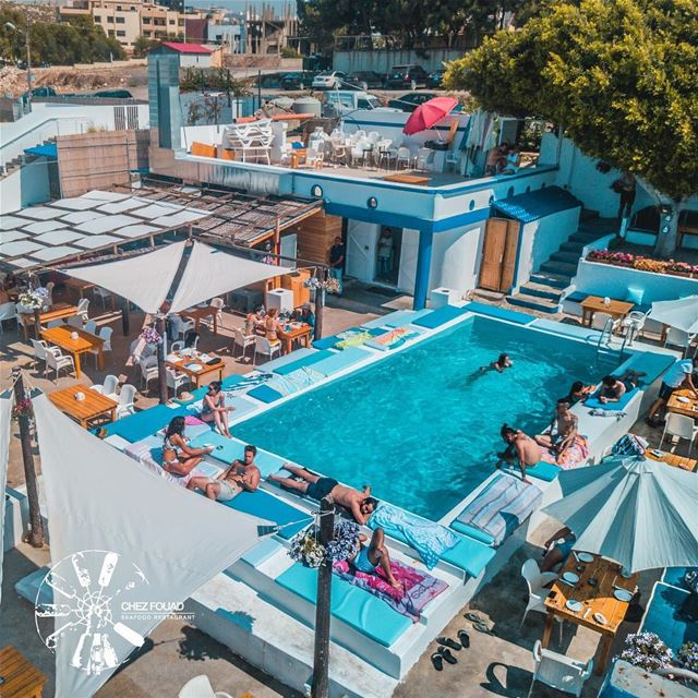 Weekend we are ready for you! 🍹-- chezfouad restaurant seafood pool... (Chez Fouad)