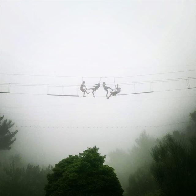 S K Y H I G H ehdenmountainactivities monkeybridge livelovelebanon ... (Ehden, Lebanon)
