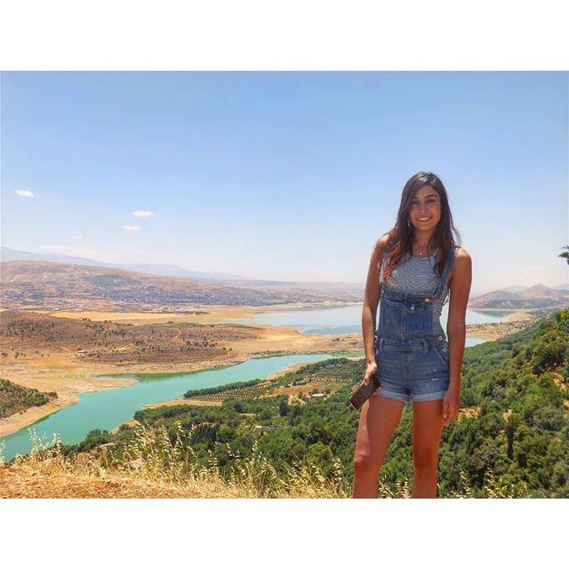 Don't forget to love yourself! livelovelebanon livelovebekaa ... (Karoun Bekaa Lake)