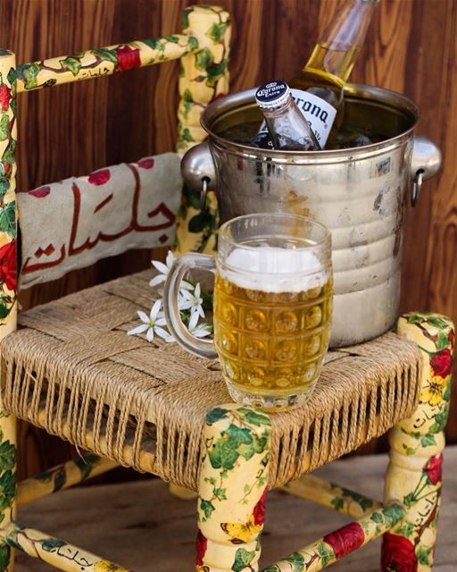 Grab your beer and feel fresh at jalsat restaurant mayrouba 🍺 ... (Jalsat)