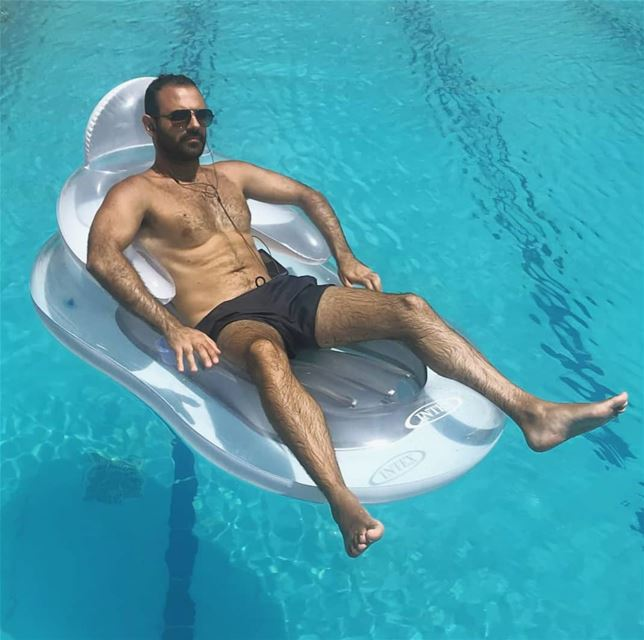 Stress level: ZERO!  summer Pool tan Lebanon beard vsco  boys ...