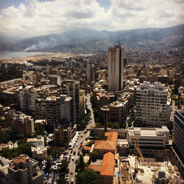 Geitawi from above summer airphotography beirut city ... (Achrafieh, Lebanon)