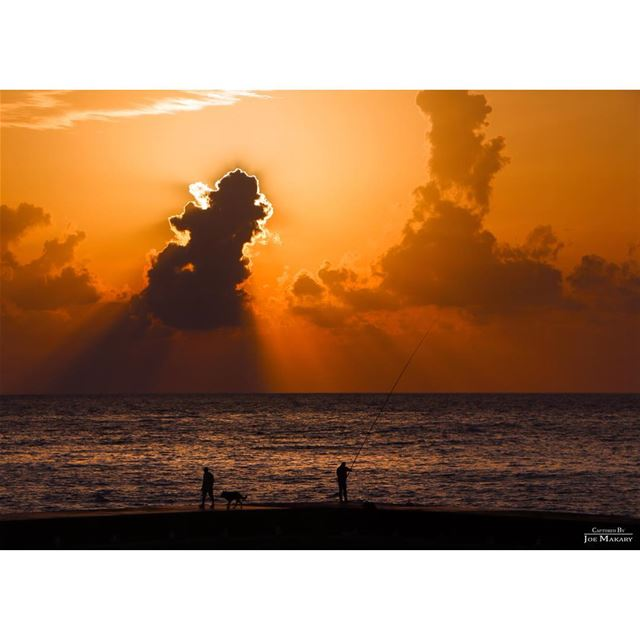 beirut beirutsunset sea beirutcorniche clouds cloudporn sunset ...