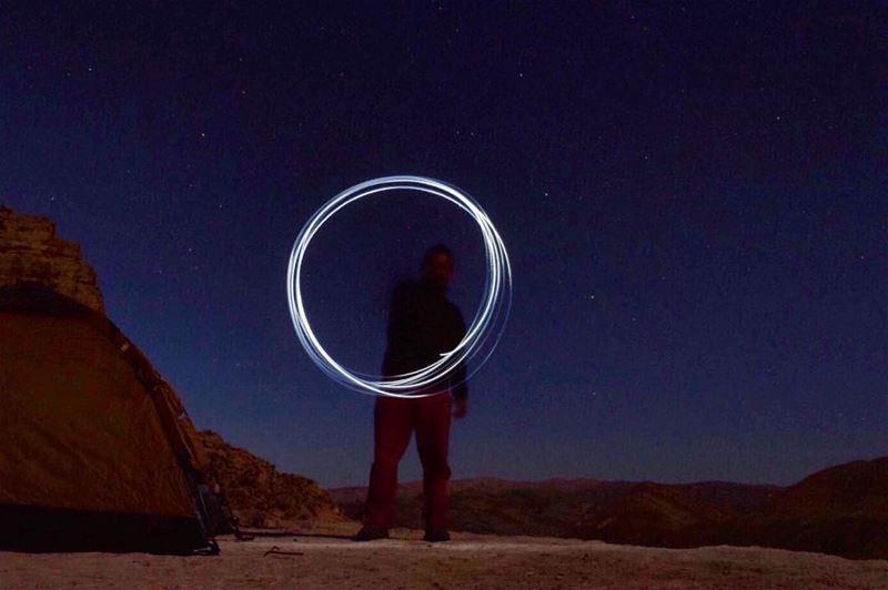 Light painting ⭕️🔘‼️................. lebanon nature ... (Circle)