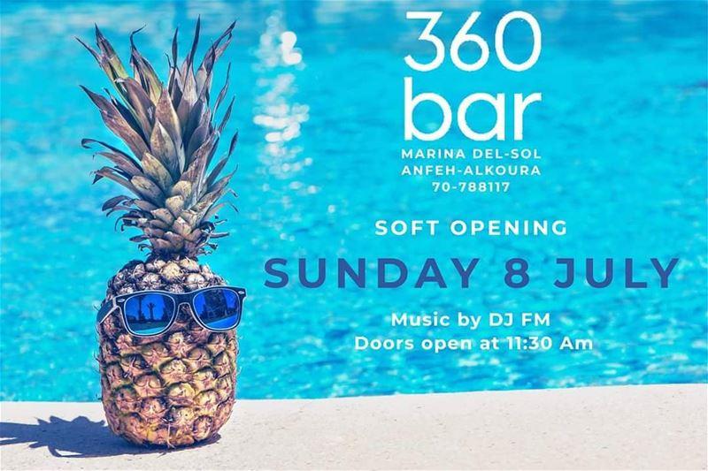 @360_poolbar soft opening Sunday 8 July @marinadelsolresort With DJ... (Anfeh Al-Koura أنفه الكورة)