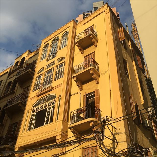 (French) Mandate period (1920-1940s) Beirut buildings the ochre color...