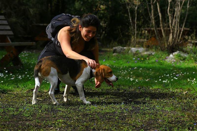Friends we make along the trail 🍃... hikinglebanon hike ...