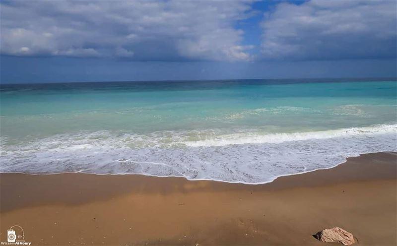sunrise beach sandybeach turquoise seaview landscaping saida lebanon... (Sidon, Lebanon)