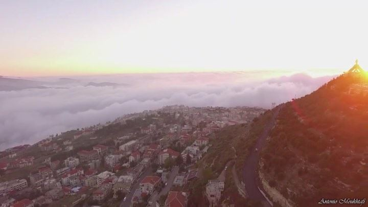 There are no rules of architecture for a castle in the clouds meaning ⛅️ ☀️ (Ehdène, Liban-Nord, Lebanon)