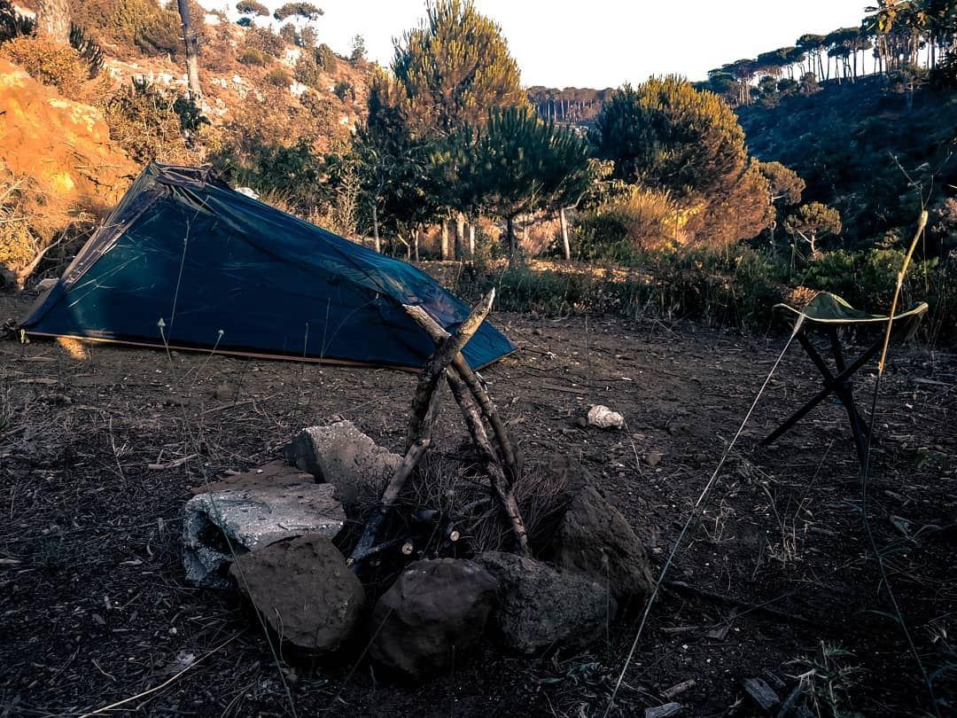 Camping with wolves 😅 campfire camping lebanon aindara ...