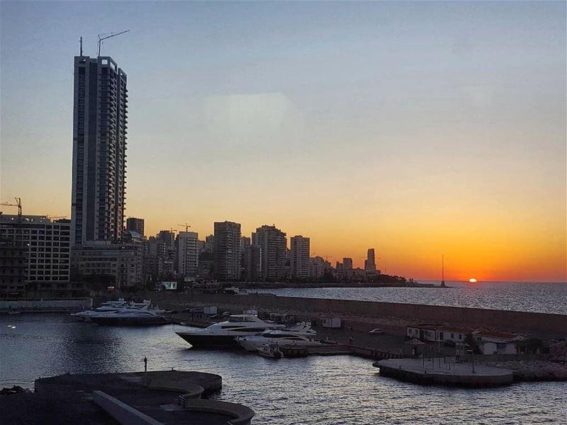 Sunset beirut yachtclub libanon zaytounabay sunsetporn sunsets ... (Beirut, Lebanon)