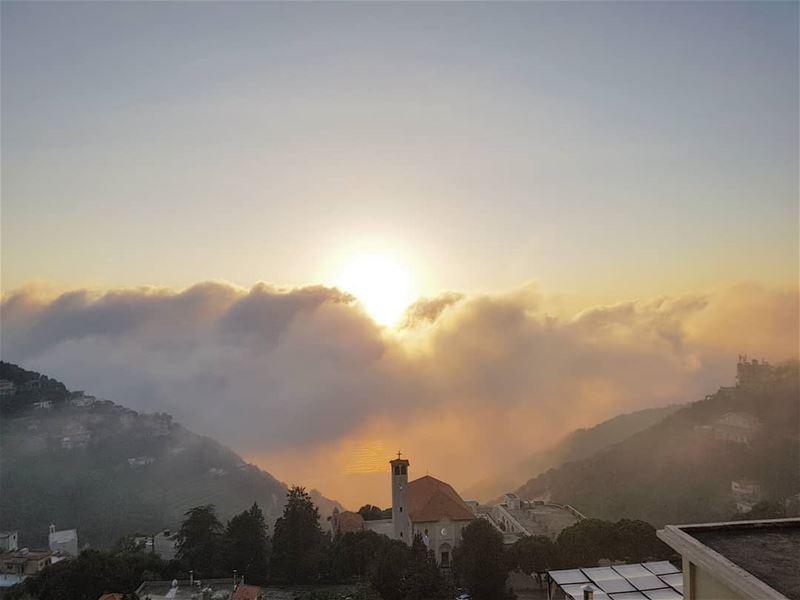 Live sunset 🌅... sunset_pics instasunset mediterrenean ... (Ghosta, Mont-Liban, Lebanon)