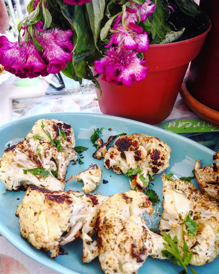 My favorite snack for adults and children - baked cauliflower with garlic,... (Beirut, Lebanon)