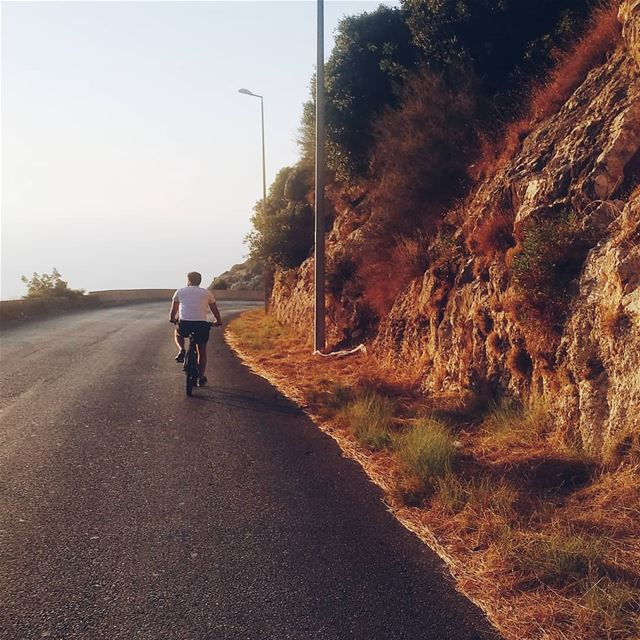 Golden hour ride biking balamand bike bikelife bikers ... (University of Balamand - UOB)