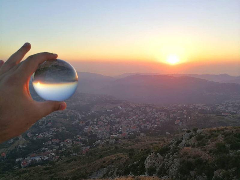 lebanon lebanonshots lebanesevillage sunset Crystalball... (Hammana)