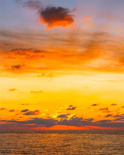 Sunset Beirut lebanon sky colors beautiful landscape nature sea clouds... (Khaldah, Mont-Liban, Lebanon)