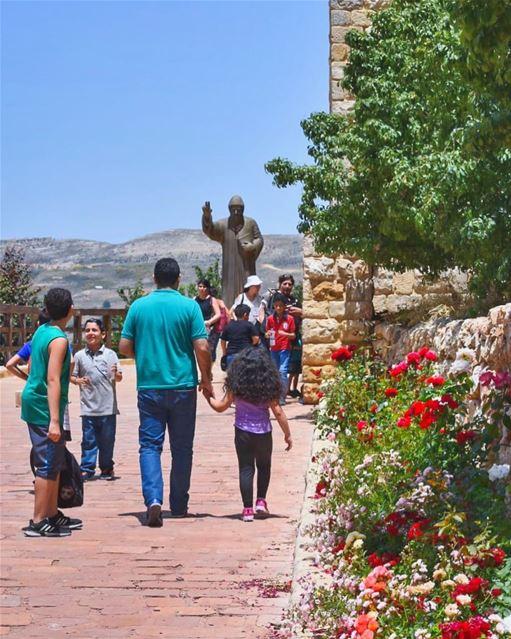 As we walk towards the week of Saint Charbel to celebrate His day next... (بقاعكفرا - مغارة مار شربل)