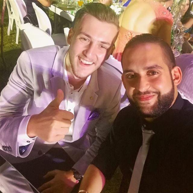 انا و خيي الدّرجاني ...😃 freinds wedding havingfun lebanon ...