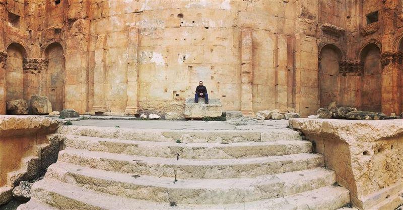 Punctuality Is The Politeness Of Kings. baalbeck cityofthesun lebanon ... (Baalbek , Roman Temple , Lebanon)