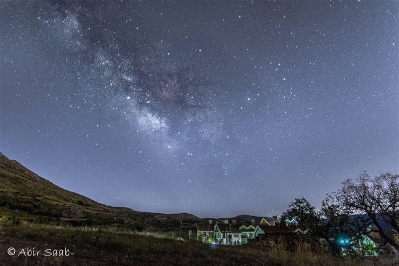 Starry starry nights.... lebanon sannine milkyway nightshot ... (Sannin, Mont-Liban, Lebanon)