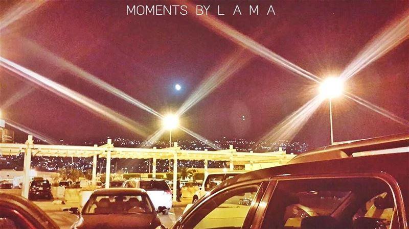 landscape landscapephotography lights moon beirut beirutnightlife... (Beirut–Rafic Hariri International Airport)
