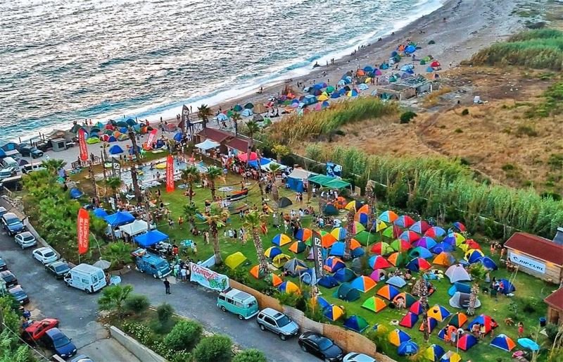 Campers at the beach is to date the biggest Camp event made in Lebanon... (Seascape Batroun)