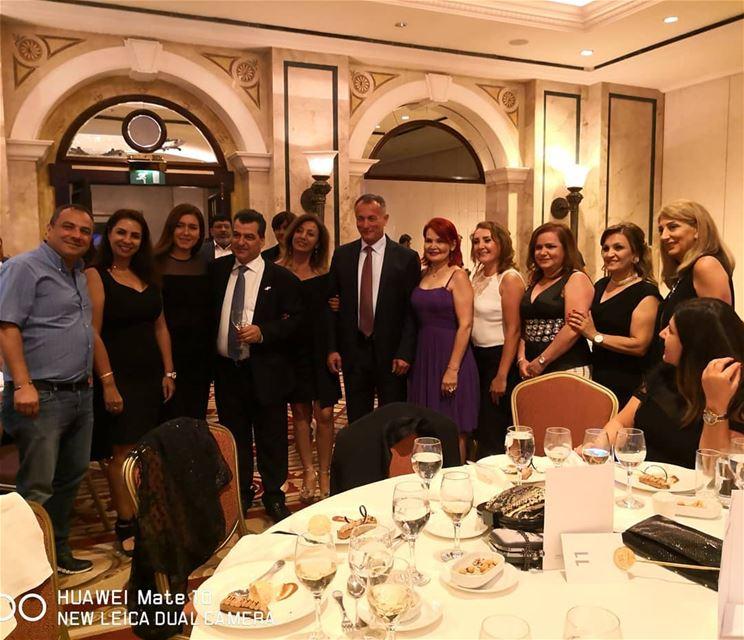 Last night gathering galadinner dr Tony Tannoury friends media health ... (Phoenicia Hotel Beirut)