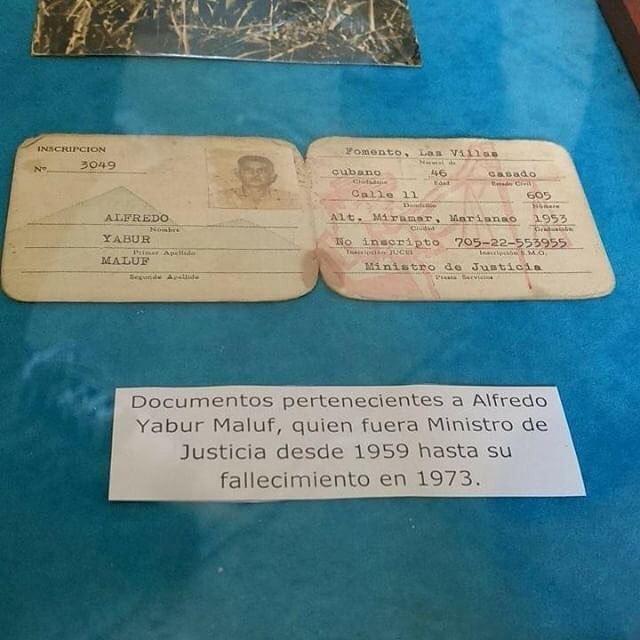 Arquivos da Diáspora: Documento pertencente a Alfredo Yabur Maluf, quem... (Cuba)