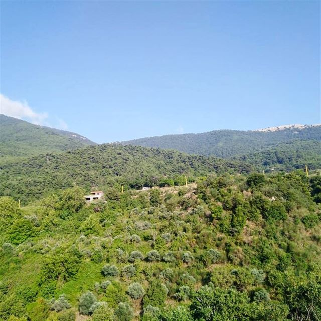 Can you hear the silence between those green mountains?!..💚—————————————— (Andakit, Liban-Nord, Lebanon)