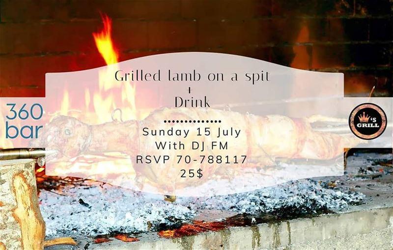@360_poolbar Sunday 15 July Grilled Lamb on a spit @marinadelsolresort ... (360 Bar)